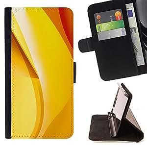 - gold yellow orange red banana abstract - - Prima caja de la PU billetera de cuero con ranuras para tarjetas, efectivo desmontable correa para l Funny HouseFOR Samsung Galaxy S5 V SM-G900