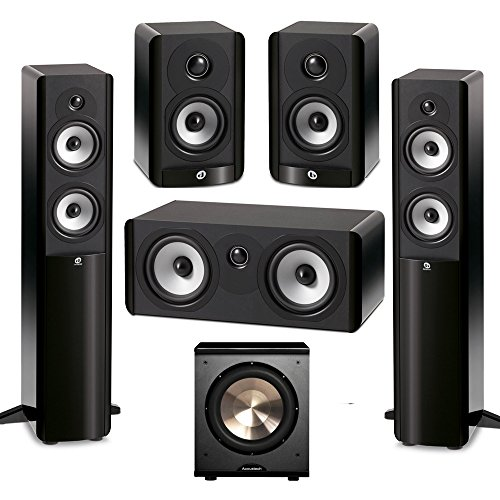 Boston Acoustics 5.1 System with 2 A250 Floorstanding Speakers, 1 A225C Center Channel Speaker, 2 A23 Bookshelf Speakers,