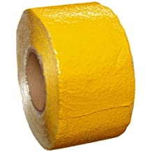 "Brady 78264 150' Length X 4"" Width High Retro-Directive, Reflective Yellow Pavement Marking Tape"
