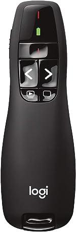 Logitech Wireless Presenter R400, Wireless Presentation Remote Clicker with Laser Pointer