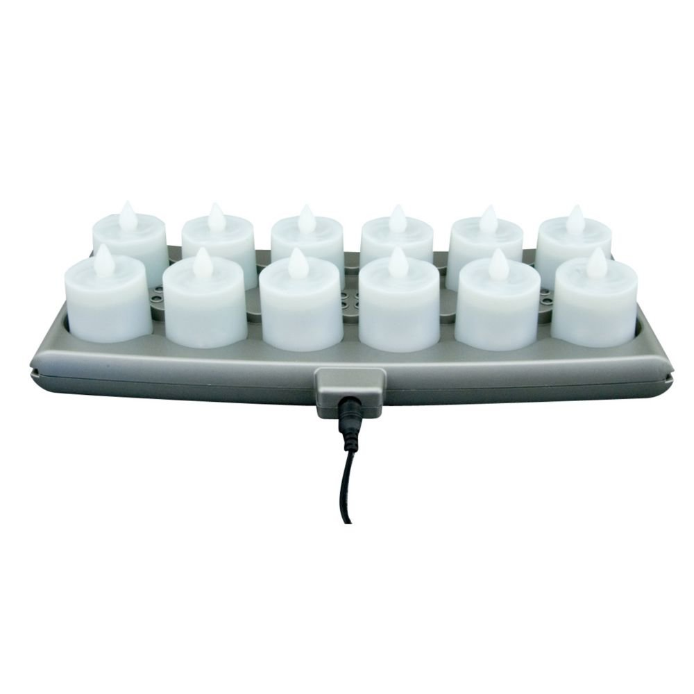 Hollowick SCRP12-WW Warm White Platinum 12 Pack Candle System - Kit by Hollowick
