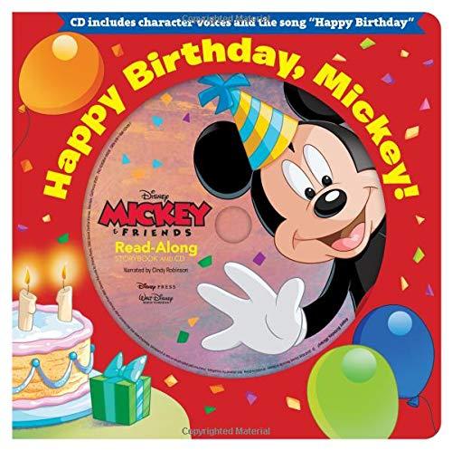 Happy Birthday, Mickey! Read-Along Storybook & CD (Read-Along Storybook and CD) -