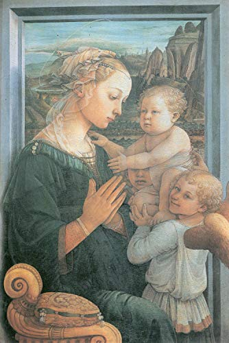 Home Comforts Peel-n-Stick Poster of Lippi, Fra Filippo - Madonna and Child with Two Angels Vivid Imagery Poster 24 x 16 Adhesive Sticker Poster Print (Fra Filippo Lippi Madonna And Child With Angels)