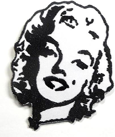 【ノーブランド品】アイロンワッペン ワッペン 変形型ワッペン 刺繍ワッペン マリリンモンロー アイロンで貼れるワッペン