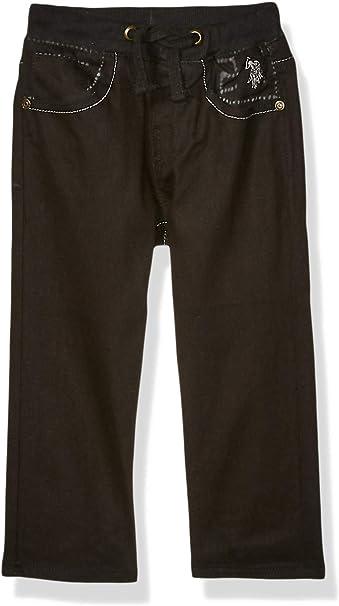 Pull-On Drawstring Washed Indigo 18 Big Boys Straight Leg Denim Jean U.S Polo Assn