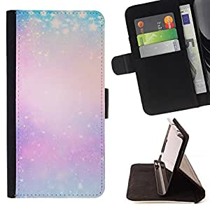 BullDog Case - FOR/Samsung Galaxy A3 / - / blue purple yellow winter snow pink /- Monedero de cuero de la PU Llevar cubierta de la caja con el ID Credit Card Slots Flip funda de cuer