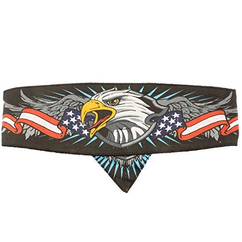 American Bald Eagle USA Flag Chop Top Biker Bandana Headwrap Headband Doo Rag Eagle Bandana