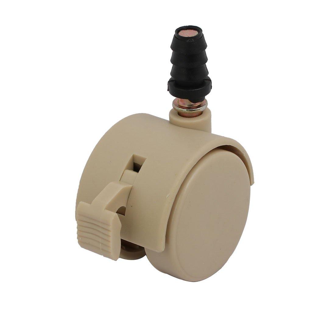 sourcingmap 1,5 pouces diamètre tige 6,5mm Roulette frein pivotant pour lit Ivoire