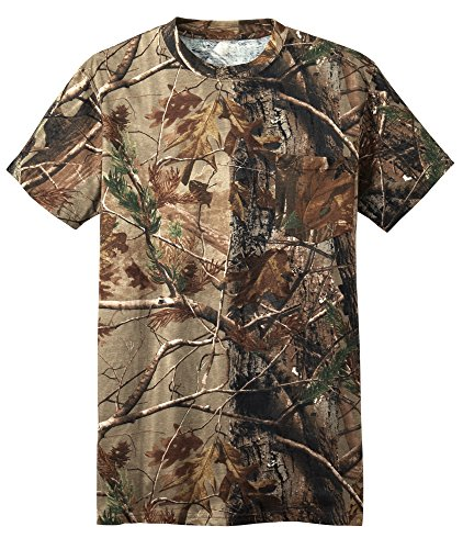 Camo Mens Short Sleeve T-shirt - Russell Outdoors Mens Realtree AP Camo Short Sleeve Explorer Shirt w/ Pocket M L XL 2XL 3XL (2XLarge)