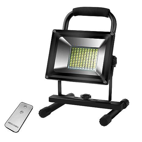 Foco Proyector Recargable LED 24W, 2400lm Foco de Obra Portátil ...