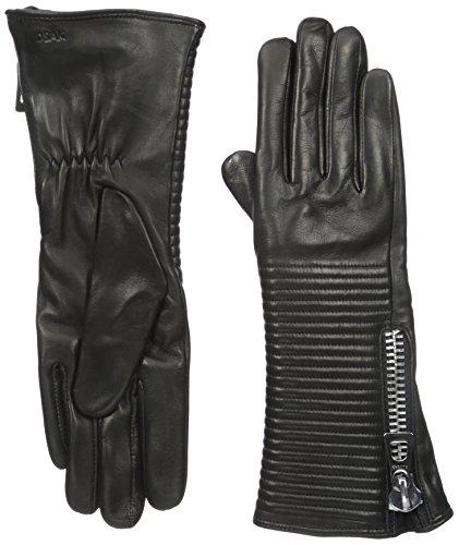 RUDSAK Women's Firmi Leather Gloves, Black, Large by RUDSAK