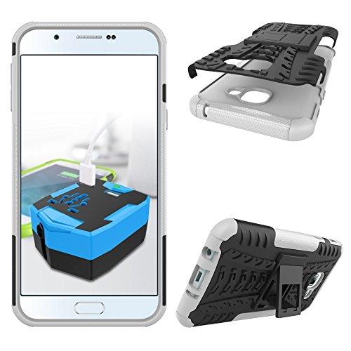 SRY Desmontable [Kickstand] 2 en 1 resistente a prueba de golpes cubierta de la caja para Samsung Galaxy A8 2016 ( Color : White ) White