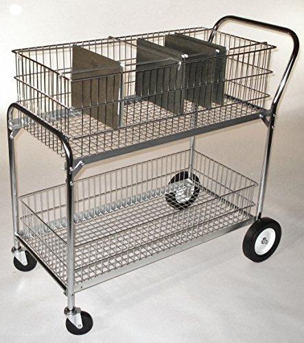 Industrial Bakery Equipment LS-4 Chrome Mail Cart, 17