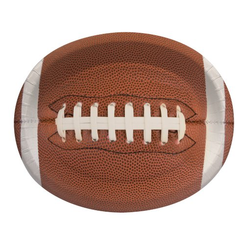 (Creative Converting 8 Count Touchdown Time Oval Platters)