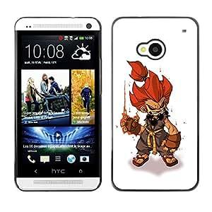 FlareStar Colour Printing Fire Hair Hero Character Game Pc Gaming cáscara Funda Case Caso de plástico para HTC One M7