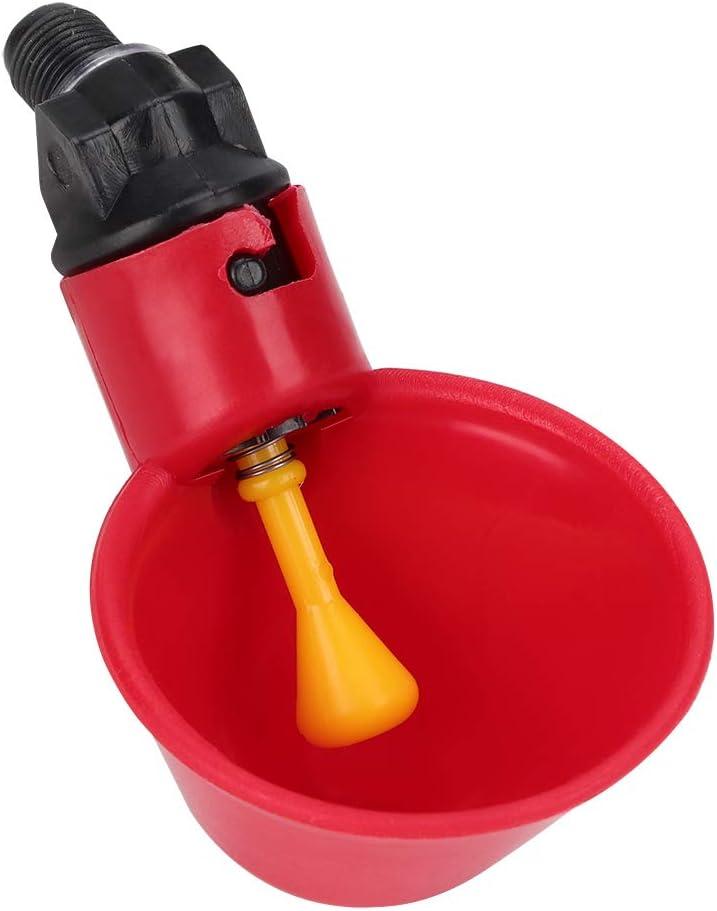 Cuenco de Agua confiable para Aves de Corral Resistente al Calor Lantro JS Bebedero de Pollo 10 Piezas para Granja