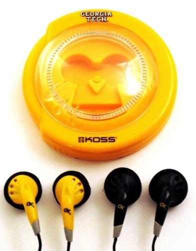 Koss Sportbuds 2-Pack Stereo Earphones with Team Logo Case (Georgia Tech)