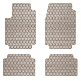 Intro-Tech Hexomat Front and Second Row Custom Floor Mats for Select Pontiac Bonneville Models - Rubber-like Compound (Tan)