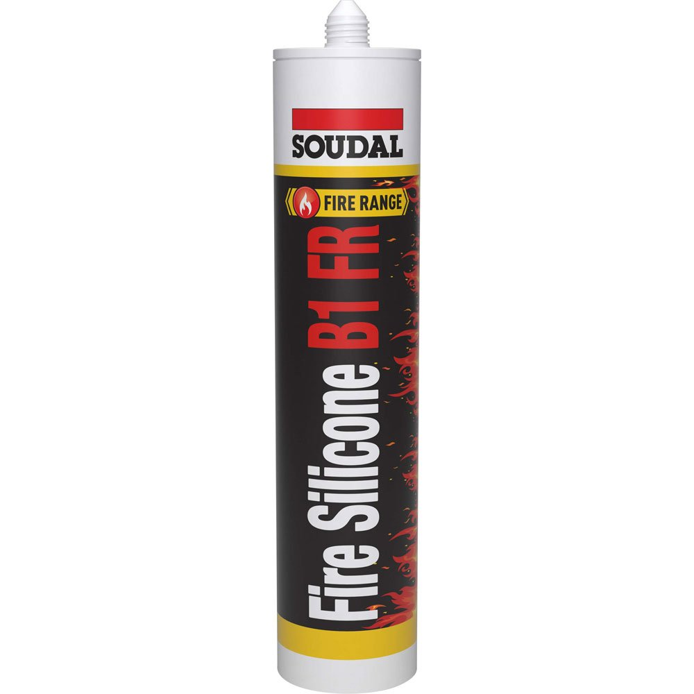 Soudal Fire Silicone B1 White 310ml cartridge