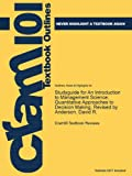 Studyguide for an Introduction to Management Science, Cram101 Textbook Reviews Staff, 1478473819