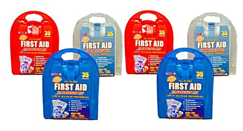 (Set of 6 Rapid Care First Aid Emergency Survival Kits - Each Kit 35 Pieces - 210 Total Pieces)