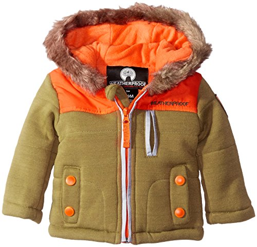 Weatherproof Baby Boys' Fleece Hooded Jacket, Loden, 24 Months
