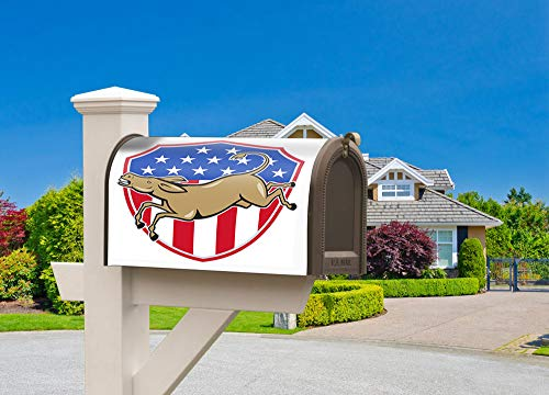Magnetic Mailboxes Post Decorative on festive occasions Mailbox Flag The American Flag of the Democratic Donkey Mascot fit 6 1/2
