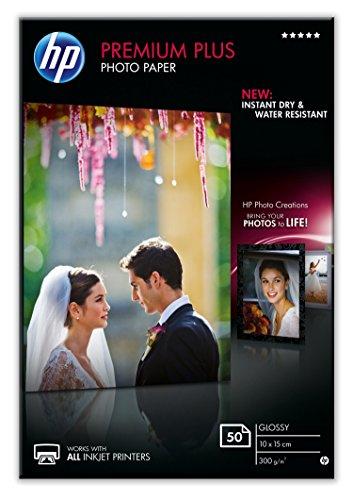 HP CR695A 10 x 15 cm Premium Plus Glossy Photo Paper, 300 GSM, 50 Sheets (Hp Premium Calculator)