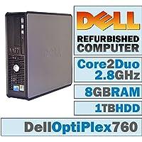 Dell OptiPlex /Core 2 Duo E7400 @ 2.80 GHz/NEW 8GB DDR2 / 1TB HDD/DVD-RW/WINDOWS 7 PRO 64 BIT-(Certified Reconditioned)