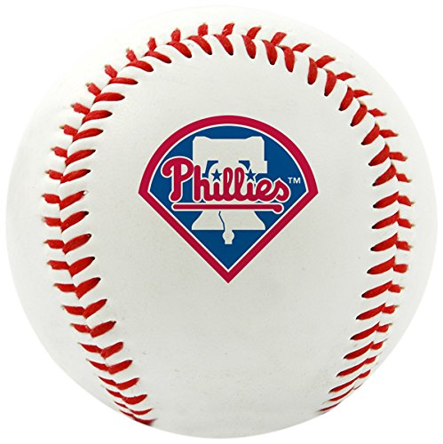 Rawlings MLB Philadelphia Phillies Team Logo Baseball, Official, White