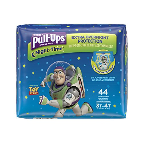 Pull-Ups Night-Time Training Pants for Boys, 3T-4T, 44 Count (Pack of 2- Total 88 Pants)(Packaging May Vary) by Pull-Ups