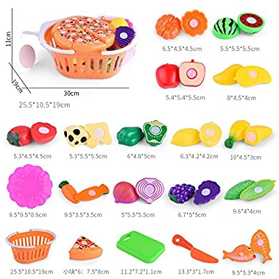 Kids Pretend Kitchen Fruit Vegetable Food Toy Cutting Set Role Play Toy: Clothing