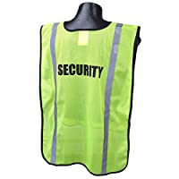 Full Source FSPRE-SEC Security Safety Vest, Yellow/Lime
