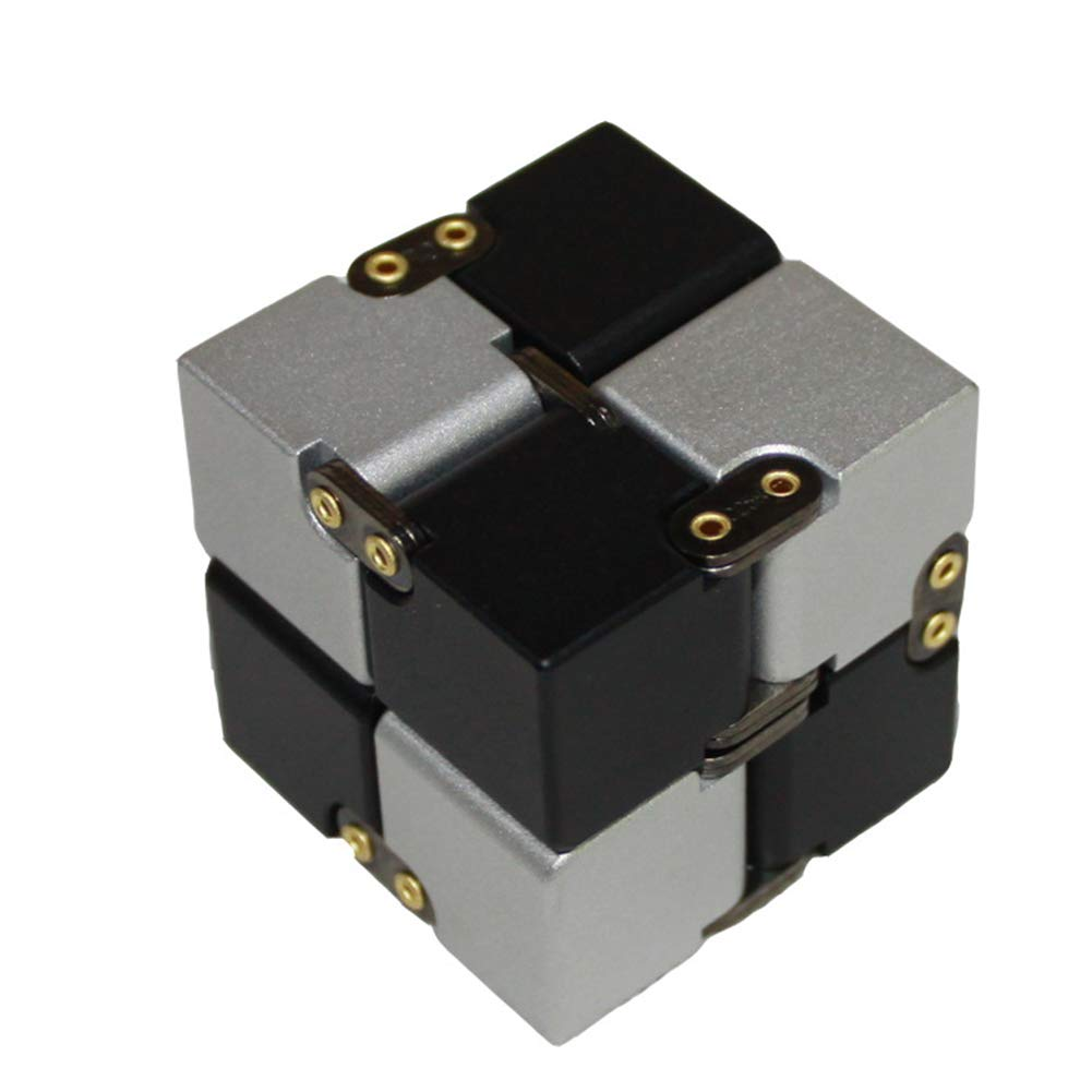 TISESIT INDOOR Infinity Cube Kids and Adults, Relieve Stress and Anxiety Cool Hand Mini Kill Time Toys Infinite Cube for Unique Idea That is Light on The Fingers and Hands,B