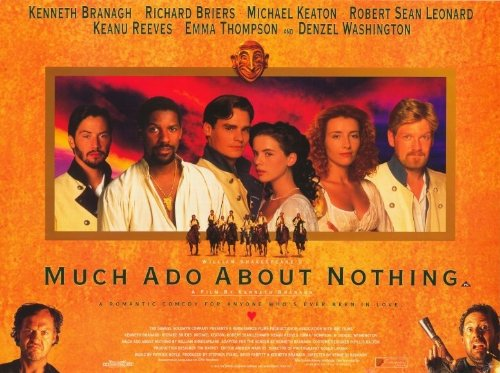 (Much Ado About Nothing Poster Movie D 11x17 Kenneth Branagh Emma Thompson Keanu Reeves )