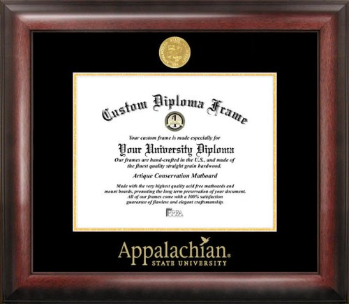 Appalachian State University Mountaineers Gold Embossed Diploma Frame by Campus Images