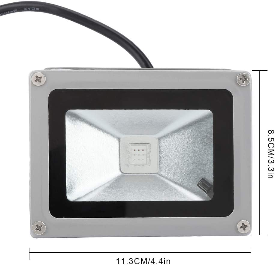 HERCHR 10W RGB LED Flood Lights with Remote Control Wall Washer Light for Outdoor Garden Courtyard Yard Waterproof Color Changing Outdoor Spotlight