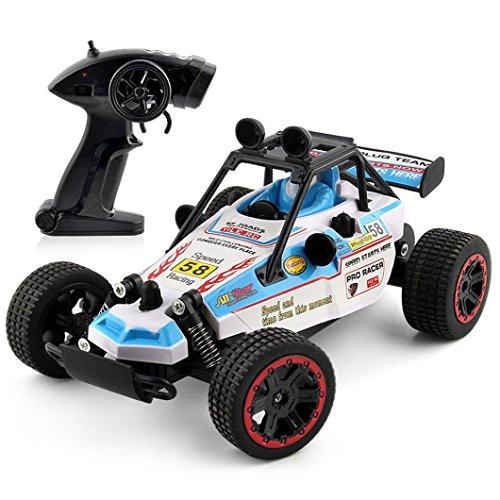 Remote Control Car, Kid Toys for Boys Girls, YJM 2018 2.4GHZ 2WD Radio Remote Control Off Road RC RTR Racing Car Truck (Blue)