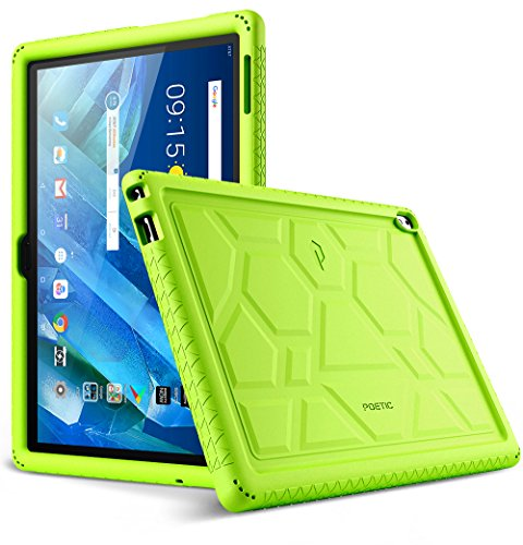 Lenovo Moto Tab Case, Poetic TurtleSkin Series [Corner/Bumper Protection][Grip][[Bottom Air Vents] Protective Silicone Case for Lenovo Moto Tab (X704A)/Lenovo Tab 4 10 Plus Tablet - Green