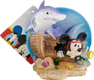 Penn Plax Officially Licensed Classic Disney Aquarium Decorations - MICKEY MOUSE SHIPWRECK WITH SHARK - 3