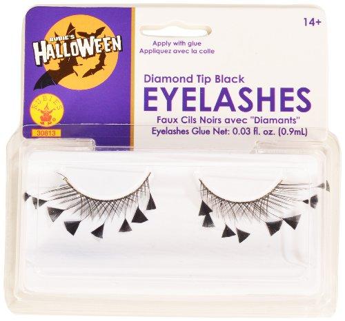 Rubies Diamond Tips Eyelashes and Adhesive