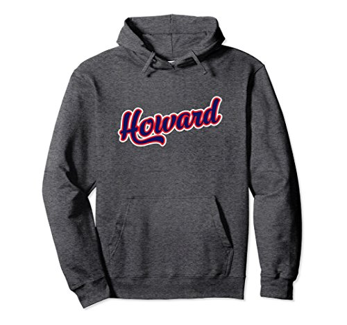 Unisex Howard Hoodie, Blue and Red Design Medium Dark Heather