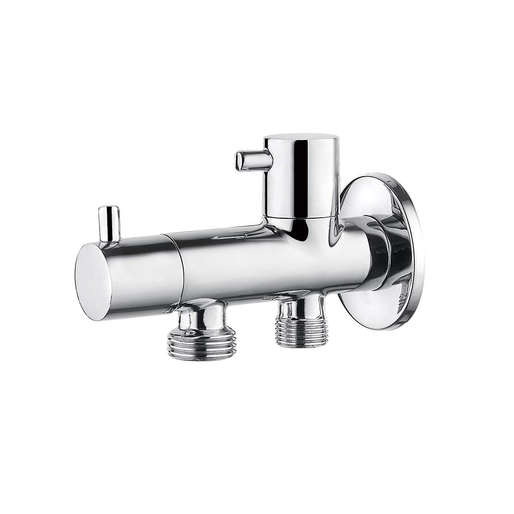 COMPLENTO Monomando empotrar para bid/é WC Kit de ducha para bid/é con ducha de mano agua caliente y fria, 1//2 pulgada soporte y manguera de ducha flexible de 1,5 m GRIFEMA G154 Crome