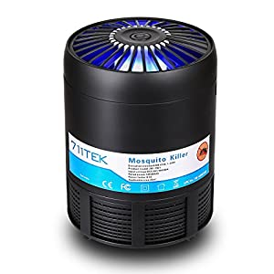 711TEK Bug Zapper, USB Powered Non-toxic UV LED Insect Killer, Electronic Mosquito Trap Lamp, Mosquito Killer with Eco-friendly for Indoor Use Black