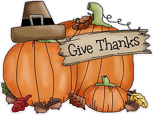 Nostalgia Decals Thanksgiving Giving Thanks Wall or Window Decor Decal 12