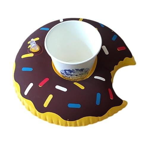 Havenport Fun Donut hinchable de soportes para vasos de ...