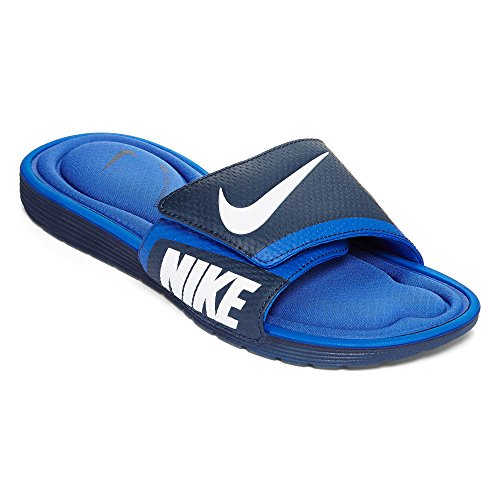 NIKE Men's Solarsoft Comfort Slide Sandal, Midnight Navy/White/Game Royal, 10 D(M) US by NIKE