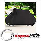North East Harbor Deluxe Single Bike Cover Waterproof Outdoor Travel Storage Cover for 1x Bicycle + KapscoMoto Keychain