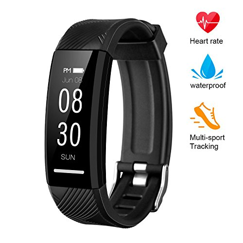 instecho Fitness Tracker, Custom Activity Tracker Heart Rate Monitor, Multiple Sport Modes Smart Watch Men, Women Children Waterproof Bluetooth Pedometer