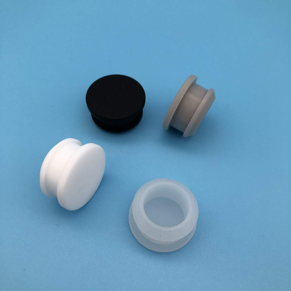 High Temp Silicone Rubber Stoppers T Type Seal Plug for Painting Blasting Powder Coating 10PCS Trasparent, A 0.16 inch